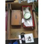 """Starrett Universal Indicator and Federal 3"""" Dial Drop Indicator (SOLD AS-IS - NO WARRANTY)"""