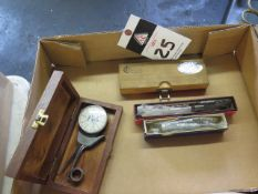 """Intertest .4""""-1.2"""" Dial Caliper Gage, (2) Micrometer Heads and Indical Gage (SOLD AS-IS - NO"""