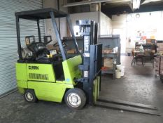"""Clark GCS15 3000 Lb Cap LPG Forklift s/n G127-0077-7654-KOF w/ 3-Stage, 152"""" Lift Height, SOLD AS IS"""