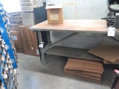 Table, Boxes and Misc Shipping Supplies (SOLD AS-IS - NO WARRANTY)
