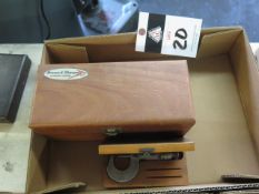 """Brown & Sharpe 0-3"""" OD Mic Set and Brown & Sharpe 0-1"""" OD Mic (SOLD AS-IS - NO WARRANTY)"""