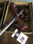 Rigid Pipe Dies, Die Handle and Pipe Cutter (SOLD AS-IS - NO WARRANTY)