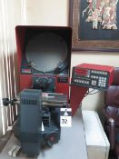 Starrett HB350 Table Model Optical Comparator w/ Quadra-Chek 2000 Programmable DRO (SOLD AS-IS -