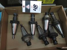 CAT-40 Taper Collet Chucks (7) (SOLD AS-IS - NO WARRANTY)