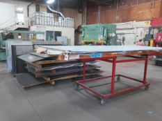 Aluminum, Stainless and Assorted Steel Sheet Stock w/ Rack and Material Cart (SOLD AS-IS - NO