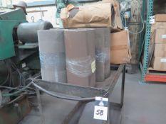 Sanding Belts w/ Cart (SOLD AS-IS - NO WARRANTY)