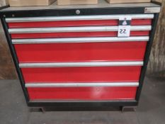 Amada Press Brake Tooling w/ Amada 5-Drawer Tooling Cabinet (SOLD AS-IS - NO WARRANTY)