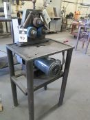 """Angle Roll Bender w/ 4"""" Dia x 2"""" Bending Rolls, Stand (SOLD AS-IS - NO WARRANTY)"""