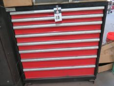 Amada Punch Die Tooling w/ Amada 8-Drawer Tooling Cabinet (SOLD AS-IS - NO WARRANTY)