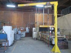 Arrow ¼ Ton Cap Floor Mounted Jib Crane w/ CM Electric Hoist (SOLD AS-IS - NO WARRANTY)