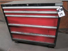 Amada Punch Die Tooling w/ Amada 5-Drawer Tooling Cabinet (SOLD AS-IS - NO WARRANTY)