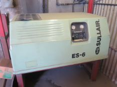 Sullair ES-6 10Hp Rotary Vane Air Compr w/ Ingersoll Rand SSR-EP10 Refrigerated Air Dryer,SOLD AS IS