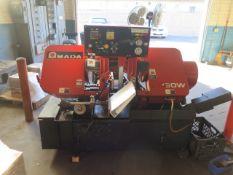 """Amada HA-250W 10"""" Automatic Hydraulic Horizontal Band Saw s/n 25350695 w/ Amada Controls, SOLD AS IS"""