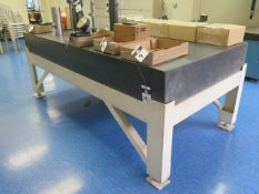 """Microflat 48"""" x 96"""" x 10"""" Granite Surface Plate w/ Stand (SOLD AS-IS - NO WARRANTY)"""