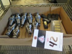 BT-30 Taper Collet Chucks (9) and Draw Studs (SOLD AS-IS - NO WARRANTY)