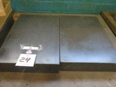 """12"""" x 18"""" x 3"""" Granite Surface Plates (2) (SOLD AS-IS - NO WARRANTY)"""