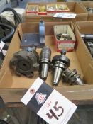 BT-35 Taper Tooling (4) , Tooling Block and Draw Studs (SOLD AS-IS - NO WARRANTY)