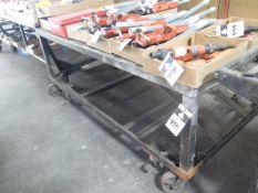 """36"""" x 72"""" Steel Rolling Table (SOLD AS-IS - NO WARRANTY)"""