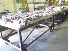"36"" x 72"" Steel Rolling Tables (2) (SOLD AS-IS - NO WARRANTY)"