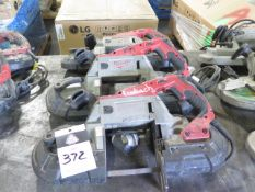 Milwaukee Variable Speed Electric Portable Band Saws (3) (SOLD AS-IS - NO WARRANTY)