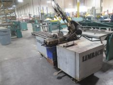 "Import mdl. RF712N 7"" Horixontal Band Saw s/n 671972 w/ Rolling Table, Conveyor, Coolant (SOLD AS-IS"