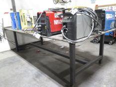 """60"""" x 144"""" x 3/4"""" Steel Welding Table (SOLD AS-IS - NO WARRANTY)"""