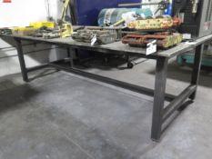 """60"""" x 144"""" x 5/8"""" Steel Welding Table (SOLD AS-IS - NO WARRANTY)"""