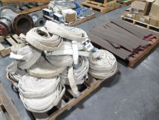 Fire Hoses and Cord Guards (2-Pallets) (SOLD AS-IS - NO WARRANTY)
