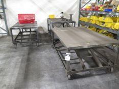Rolling Steel Tables (3) (SOLD AS-IS - NO WARRANTY)