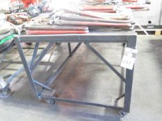 Rolling Shop Table (SOLD AS-IS - NO WARRANTY)