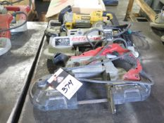 Milwaukee, DeWalt and Porta-Cable Electric Portable Band Saws (3) (SOLD AS-IS - NO WARRANTY)