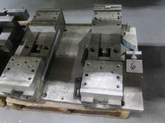 """Toolex 6"""" Double-Lock Vises (2) w/ Mounting Plate (SOLD AS-IS - NO WARRANTY)"""