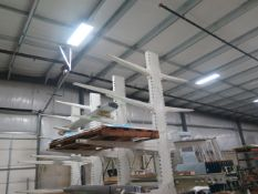 Double Sided Cantilever Sheet Stock Rack (SOLD AS-IS - NO WARRANTY)