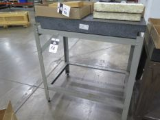 """24"""" x 36"""" x 4"""" 2-Ledge Granite Surface Plate w/ Stand (SOLD AS-IS - NO WARRANTY)"""