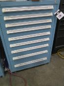 Vidmar 9-Drawer Tooling Cabinet w/ Misc Pin Gages (SOLD AS-IS - NO WARRANTY)