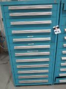 Equipto 12-Drawer Tooling Cabinet w/ Reamers and Misc Tooling (SOLD AS-IS - NO WARRANTY)