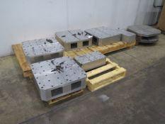 "21 1/2"" x 21 1/2"" x 6 1/2"" Aluminum Pallet Riser Fixture Blocks (4) (SOLD AS-IS - NO WARRANTY)"