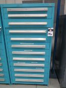 Equipto 12-Drawer Tooling Cabinet w/ Extended Length Drills and Misc Tooling (SOLD AS-IS - NO WARRAN