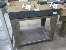 """24"""" x 36"""" x 5"""" Granite Surface Plate w/ Stand (SOLD AS-IS - NO WARRANTY)"""