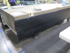 """60"""" x 120"""" x 16"""" Granite Surface Plate w/ Stand (SOLD AS-IS - NO WARRANTY)"""