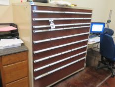 Lista 9-Drawer Tooling Cabinet (SOLD AS-IS - NO WARRANTY)