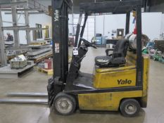 "Yale GLC030CENUAE083 3000 Lb LPG Forklift s/n N542835 w/ 3-Stage Mast, 190"" Lift Height, SOLD AS IS"