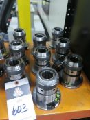 """CAT-50 Taper 1 1/4"""" Straight-Collet Collet Chucks (9) (SOLD AS-IS - NO WARRANTY)"""