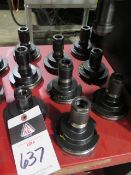 CAT-50 Taper Collet Chucks (9) (SOLD AS-IS - NO WARRANTY)