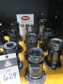 CAT-50 Taper TG100 Collet Chucks (9) (SOLD AS-IS - NO WARRANTY)