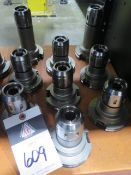 """CAT-50 Taper 3/4"""" Straight-Collet Collet Chucks (9) (SOLD AS-IS - NO WARRANTY)"""