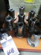 """CAT-50 Taper 1"""" Straight-Collet Collet Chucks (9) (SOLD AS-IS - NO WARRANTY)"""