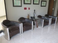 Custom Aviation Style Reception Furniture (SOLD AS-IS - NO WARRANTY)