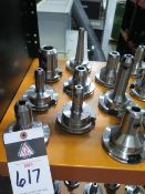 CAT-50 Taper Balanced Tool Holders (9) (SOLD AS-IS - NO WARRANTY)