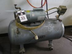 Gast Vacuum Pump w/ Tank (SOLD AS-IS - NO WARRANTY)
